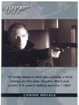 James Bond The Complete Quotable Casino Royale Chase Card Q4