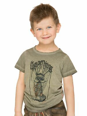 Stockerpoint Trachten Kinder T-Shirt Wolpi boy sand