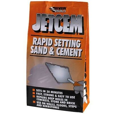 Everbuild Jetcem Rapid Setting Sand and Cement Ready Mixed Repair Grey- 2kg