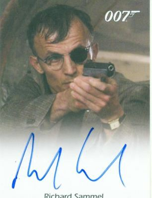 James Bond In Motion Full Bleed Autograph Card Richard Sammel