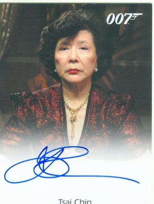 James Bond In Motion Full Bleed Autograph Card Tsai Chin