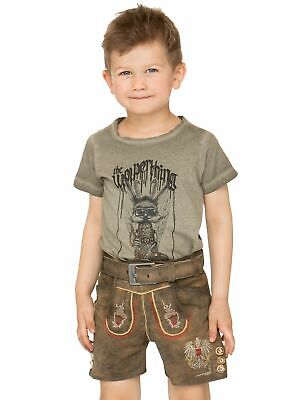 Stockerpoint Traditional Costume Children Leather Pants with Belt short Austria