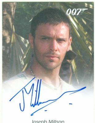 James Bond In Motion Full Bleed Autograph Card Joseph Millson