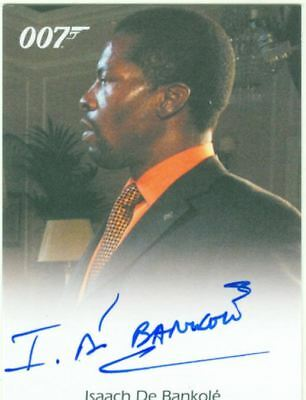 James Bond In Motion Full Bleed Autograph Card Isaach De Bankole