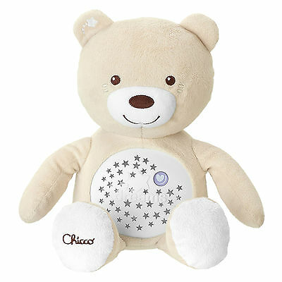 New Chicco Neutral Baby Bear Nursery Projector Baby Musical Nightlight