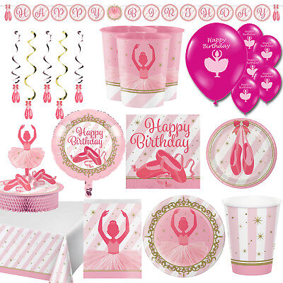 Twinkle Toes Ballerina Ballet Girls Happy Birthday Decorations Party Supplies