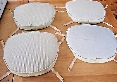 Set of 4 original Lyn Plan Corduroy  Ercol Windsor Quaker dining chair seat pads