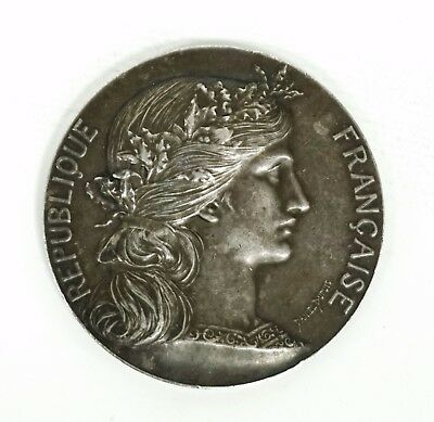 Rare Antique French Silver Medal Republique Francaise D.dupuis H.dubois