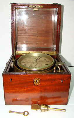 19th Century John Fletcher Ship Chronometer London Number 1534 VERY RARE