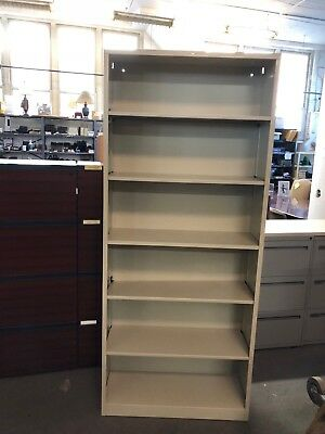 """HEAVY DUTY BOOKCASE by HON OFFICE FURNITURE in PUTTY COLOR 81""""H"""