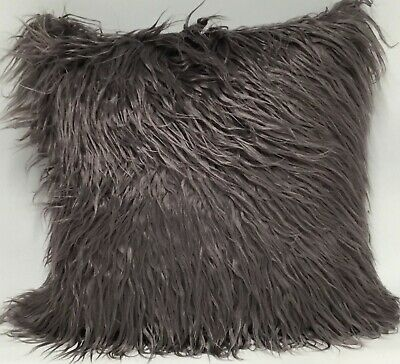 """Shaggy Mongolian Cushion Covers, 6  Colours 18"""" Polyester ,Also Filled cushions"""