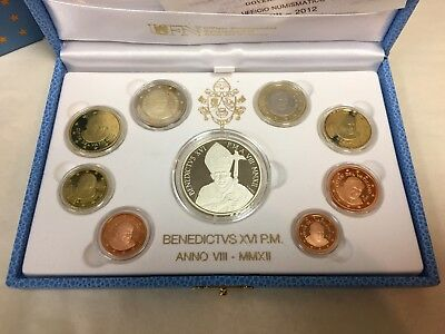 2012 Vatican 9 Euro Coin Proof Set including 20 Euro Silver Commemorative