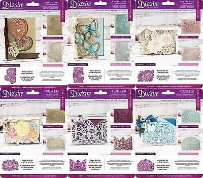 NEW 2018 DIE'SIRE Create A Card Cut On Edge Dies by Crafters Companion
