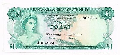 1968 BAHAMAS ONE DOLLAR NOTE - p27a