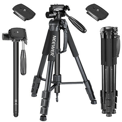 Neewer Black 70 inch Aluminium Camera Tripod Monopod with with Quick Shoe Plate