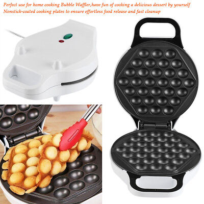 Electric Egg Cake Oven Pan Bread Maker Stainless Steel Waffle Bake Machine DY
