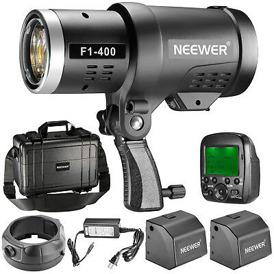 Neewer 400W 2.4G HSS Dual TTL Outdoor Flash Strobe Light for Canon and Nikon