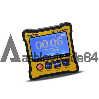 Digital DXL360 Protractor Inclinometer Level Box Dual Axis Angle Sensor Meter