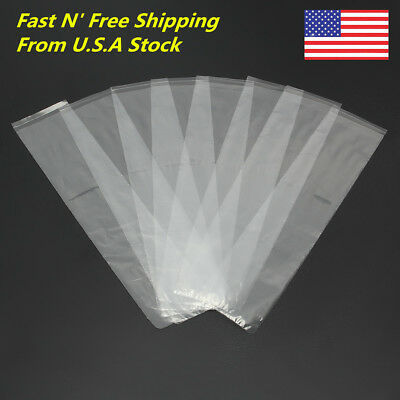 500PCS 200X45mm Dental Disposable Plastic Sleeves COVER for digital X Ray Sensor