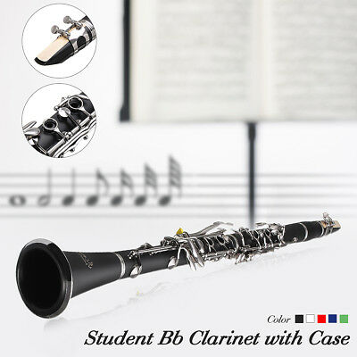 Bb CLARINET BLACK +CASE SCHOOL STUDENT BEST QUALITY REEDS CASE MECO 670x45x30mm