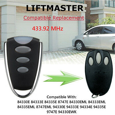 Garage Door Remote Control 433.92 Mhz 12V For Chamberlain Liftmaster Motorlift