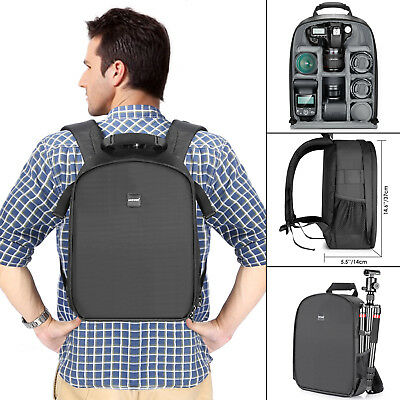 "Neewer Camera Backpack Partition Waterproof Shockproof 11""x6""x14"" for DSLR SLR"