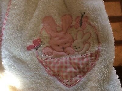 girls fluffy pink and white dressing gown 3-4 years