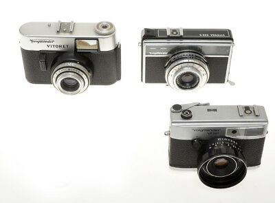 Voigtlander 3 different cameras , Vitoret, VF101 & Vitessa 500S sold as is