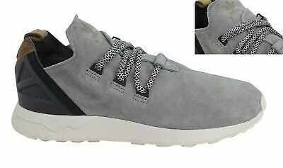 Adidas Originals ZX Flux Adv X Lace Up Grey Leather Mens Trainers S76364 D44 259d57159