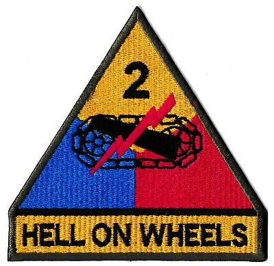 Ecusson insigne patch patche US Army USA Hell On Wheels Fury thermocollant