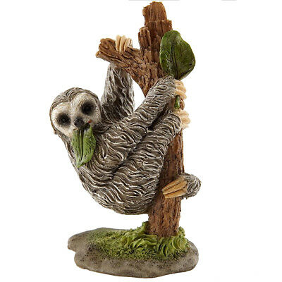"Mini Sloth In Tree Figurine 3"" High Resin New In Box!"