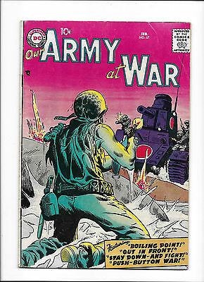 """Our Army At War #67  [1958 Vg+]  """"boiling Point!"""""""