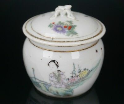 Antique Chinese Porcelain Covered Small Pot