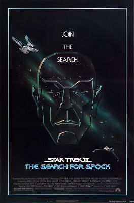 Star Trek III The Search For Spock - original movie poster  - ROLLED