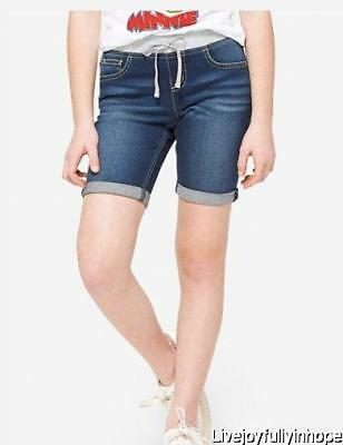 JUSTICE for GIRLS ~ New! NWT 12 14 or 16 Plus ~ Knit Waist Roll Cuff Denim Jeans