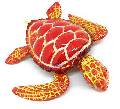 Bobble Dancing Sea Turtle Refrigerator Magnet Red Yellow
