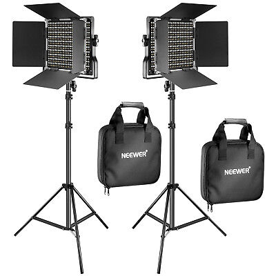 Neewer 2 Pieces Bi-color 660 LED Video Light and Stand Kit