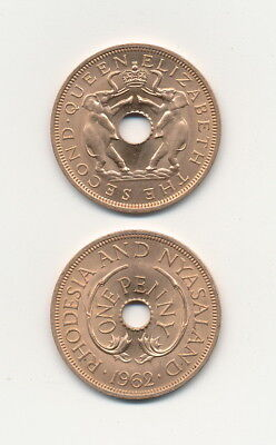 Rhodesia and Nyasaland - One Penny 1962 UNC