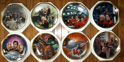 Star Trek Generations Hamilton 8 plate collection FLAWLESS & COMPLETE.