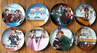 Lucille Ball Hamilton 8 plate collection FLAWLESS & COMPLETE.