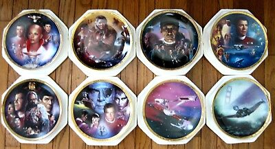 Star Trek The Movies Hamilton 8 plate collection FLAWLESS & COMPLETE.