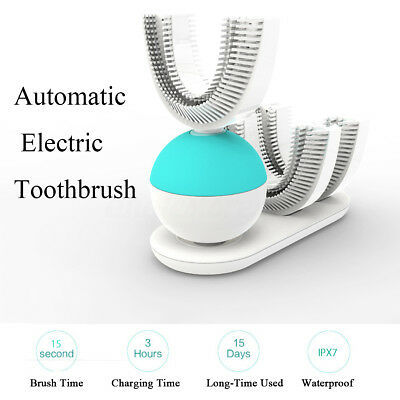 Automatic Electric Tooth Toothbrush Wireless Charging w/ Double Head