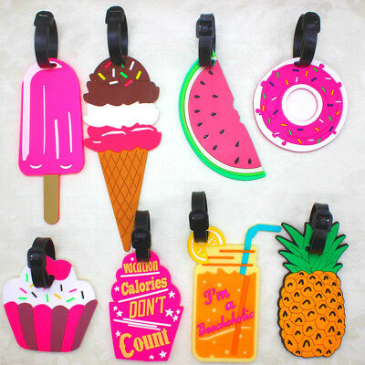 Cute Fruit Luggage Bag Tag Holder Suitcase Baggage Name ID Identifier Travel