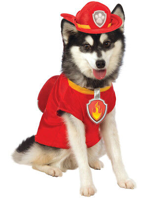 Paw Patrol Marshall The Fire Dog Firefighter Pet Costume