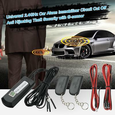 Universal Car Alarm Immobilizer Anti Hijacking Theft Security With G-Sensor Q2P0