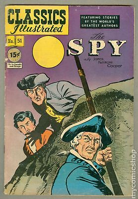 Classics Illustrated 051 The Spy 1C 1963 GD 2.0