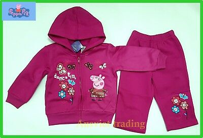 Brand new Peppa Pig Track Suit Hoodie Top 2pc jacket and pants girls tracksuit