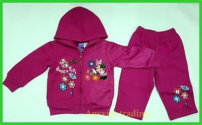 new Minnie Mouse Track Suit Hoodie Top 2pc jacket and pants girls tracksuit