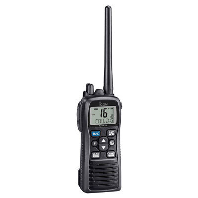 Icom M73 Handheld VHF - 6 Watts - IPX8 Submersible - Black Part # M73 21