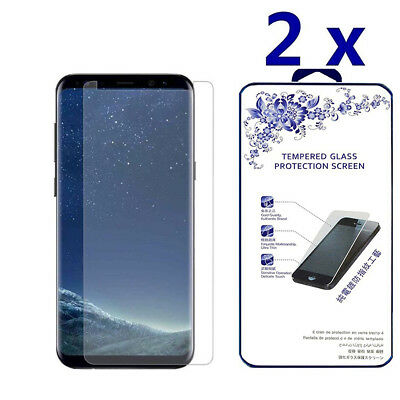 2X For Samsung Galaxy S9 Plus(Not Full Coverage) Tempered Glass Screen Protector